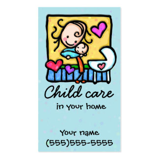 Babysitting Child Care Nanny Daycare Business Card Templates
