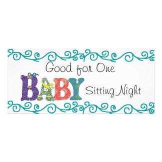 Babysitting coupon rack card