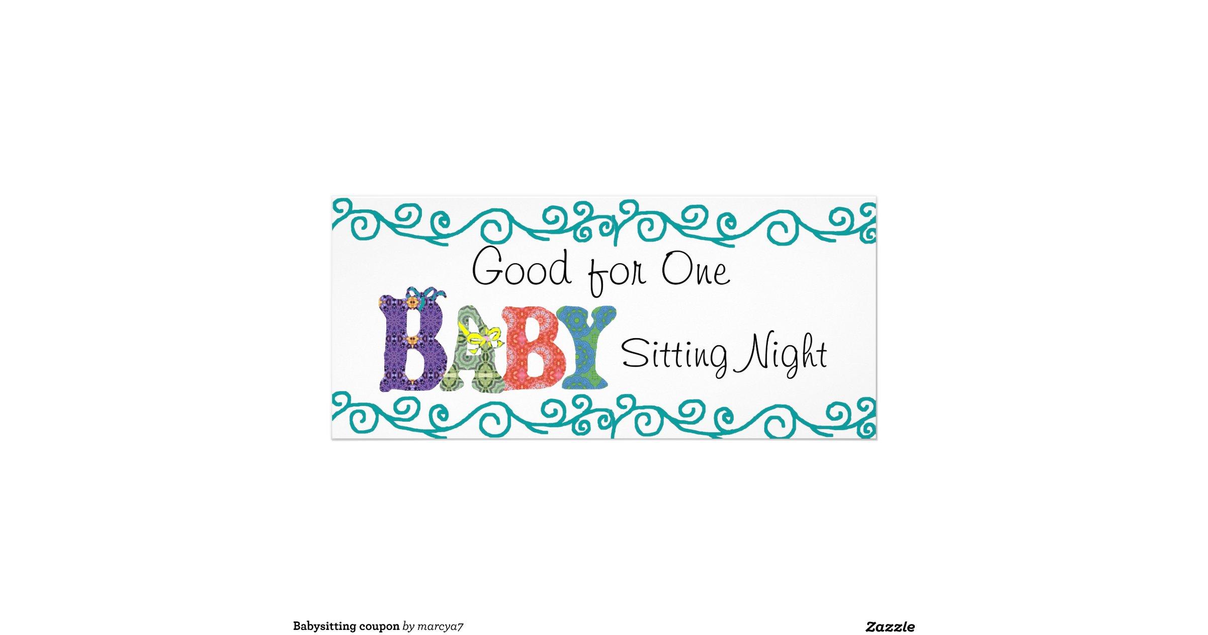 babysitting sign ideas