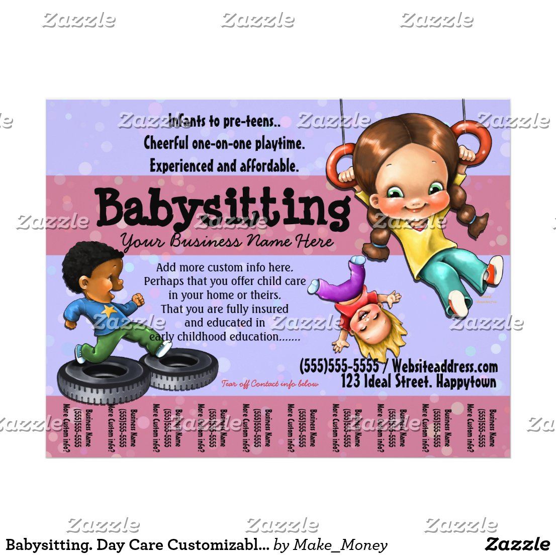 Babysitting Flyer For Teenagers babysitting. day care customizable ...: galleryhip.com/babysitting-flyer-for-teenagers.html