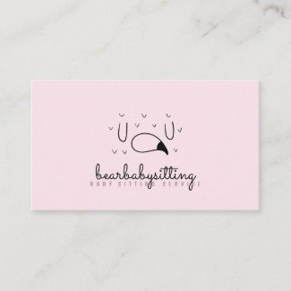 Babysitting Daycare, Nursery, child, flamingo Business Card