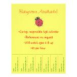 Babysitting Flyer - Ladybug