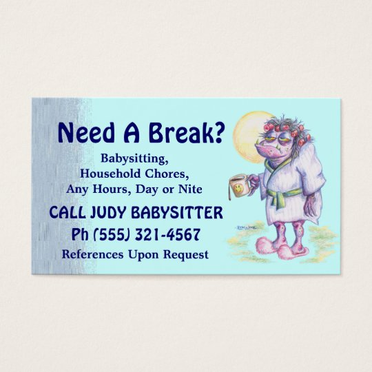 Babysitting Or Household Chores Business Card Zazzlecom