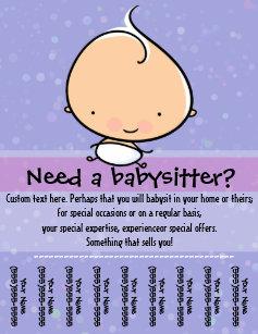 for babysitting flyers zazzle