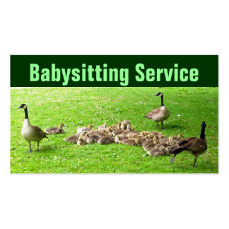 Babysitting Service Business Cards