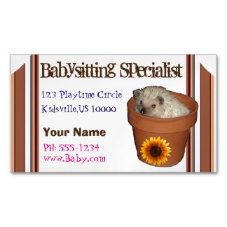 Babysitting specialist business card magnet