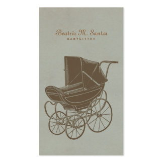 Babysitting Vintage Baby Carriage Simple Modern Double-Sided Standard Business Cards (Pack Of 100)