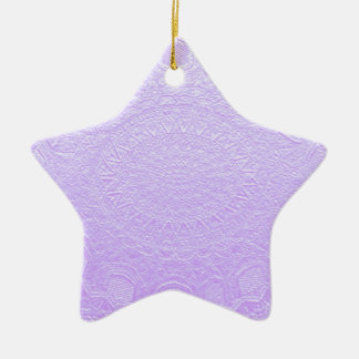 Babysoft Engraved Look Purple Double-Sided Star Ceramic Christmas Ornament
