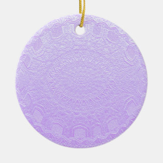 Babysoft Engraved Look Purple Double-Sided Ceramic Round Christmas Ornament