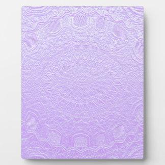 Babysoft Engraved Look Purple Photo Plaque