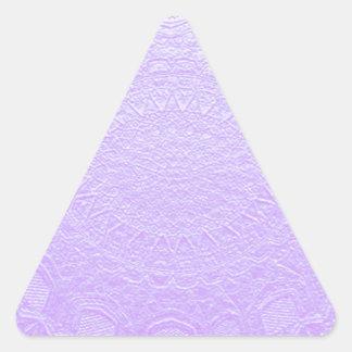 Babysoft Engraved Look Purple Triangle Sticker