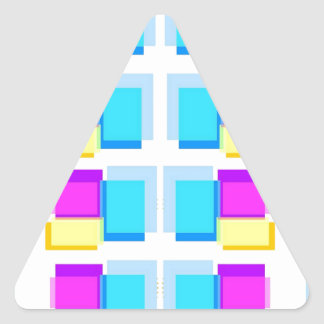 Babysoft Girly Blocks Design on White Base Triangle Sticker