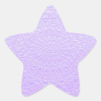 Babysoft grabó púrpura de la mirada pegatina forma de estrella