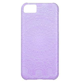 Babysoft Purple : Engraved SilverFoil Jewel iPhone 5C Cases
