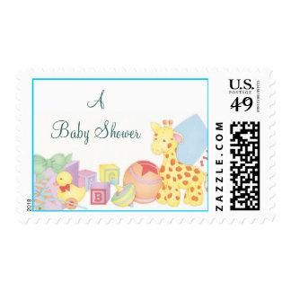 babytoys, A Baby Shower Postage Stamps
