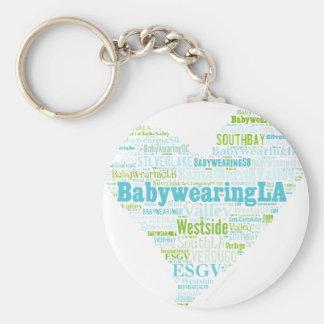 BabywearingLA Heart Logo Keychain