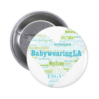 BabywearingLA Heart Logo Pinback Button