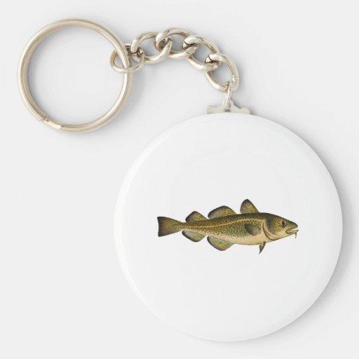 Bacalao atlántico llavero personalizado