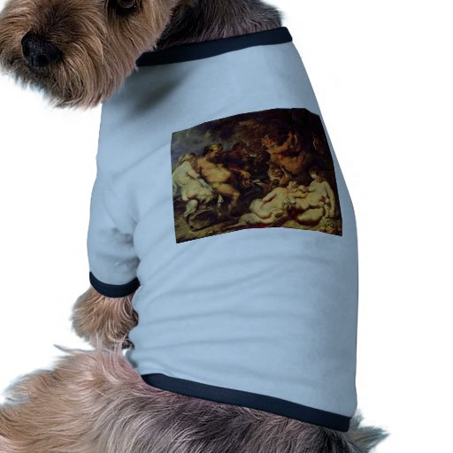 Bacanal de Rubens Peter Paul (la mejor calidad) Camiseta Con Mangas Para Perro