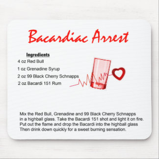 Bacardiac Arrest Mouse Pad