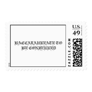 BACCALAUREATE TO BE CONFERRED Postage