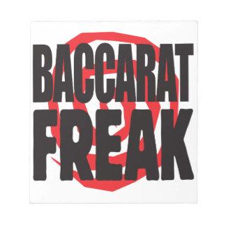 Baccarat Freak Memo Notepad