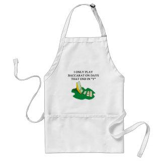 baccarat player design adult apron