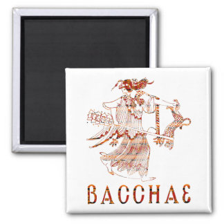Bacchae 2 Inch Square Magnet