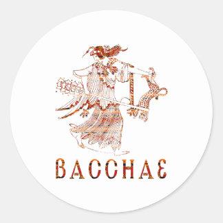 Bacchae Classic Round Sticker