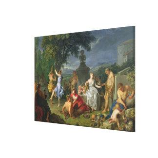 Bacchanal, 1719 (oil on canvas) canvas print
