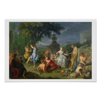 Bacchanal, 1719 (oil on canvas) poster