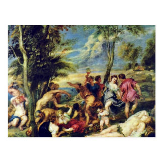 Bacchanal At Andros After A Painting Postcard
