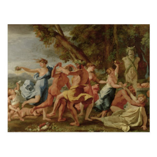 Bacchanal before a Herm, c.1634 Postcard