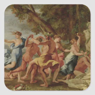 Bacchanal before a Herm, c.1634 Square Sticker