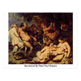 Bacchanal By Peter Paul Rubens Postcard