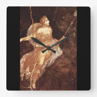 Bacchante', National Museum_Art of Antiquity Square Wall Clock
