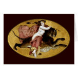 Bacchante On A Panther Greeting Card