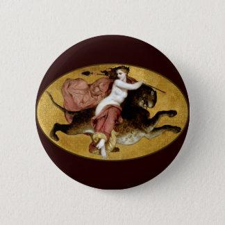 Bacchante On A Panther Pinback Button
