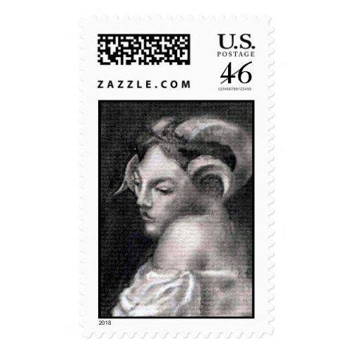 Bacchante postage stamp