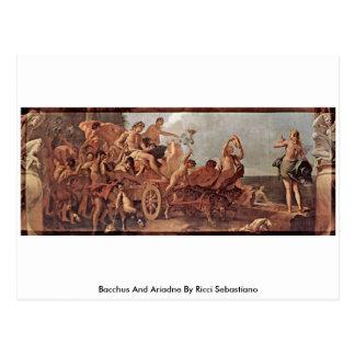 Bacchus And Ariadne By Ricci Sebastiano Postcard