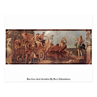 Bacchus And Ariadne By Ricci Sebastiano Post Cards