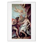 Bacchus And Ariadne By Sebastiano Ricci Greeting Card