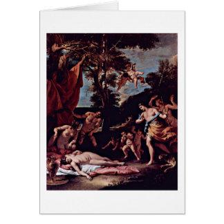 Bacchus And Ariadne By Sebastiano Ricci Card
