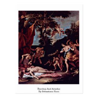 Bacchus And Ariadne By Sebastiano Ricci Postcard