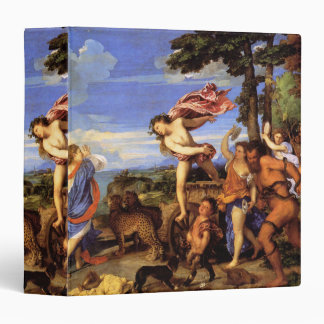 Bacchus and Ariadne by Titian 3 Ring Binder