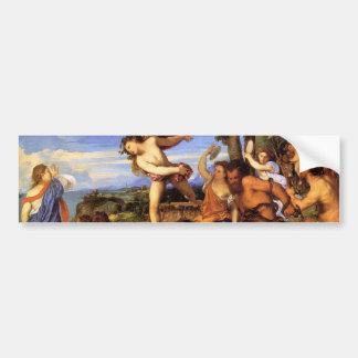 Bacchus and Ariadne by Titian Bumper Sticker