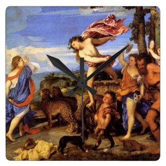Bacchus and Ariadne by Titian Wallclock