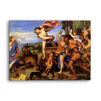 Bacchus and Ariadne by Titian Envelope
