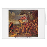 Bacchus And Ariadne By Titian Greeting Card