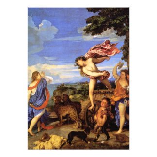 Bacchus and Ariadne by Titian Personalized Announcements